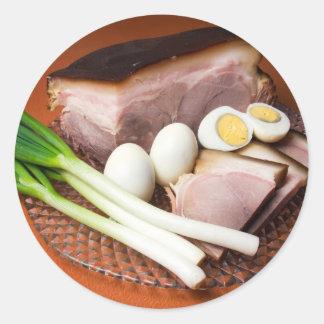 Ham and Eggs Classic Round Sticker