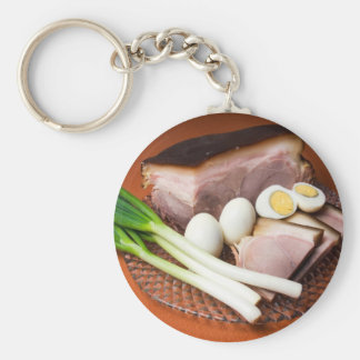 Ham and Eggs Keychain