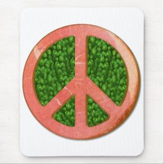 Ham And Peas Peace Symbol Mouse Pad