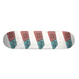 Ham as H Hydrogen and Am Americium Skateboard Deck