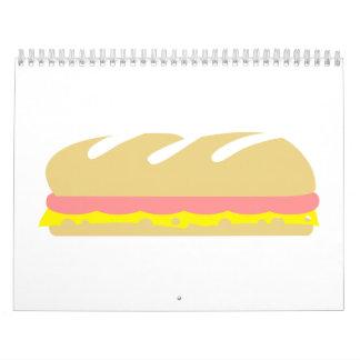 Ham cheese baguette sandwich wall calendars