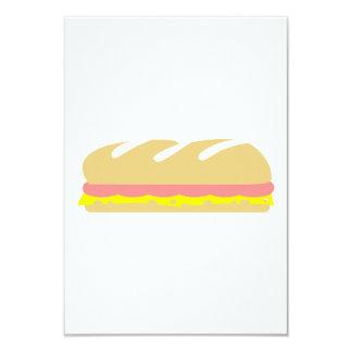 Ham cheese baguette sandwich invitations