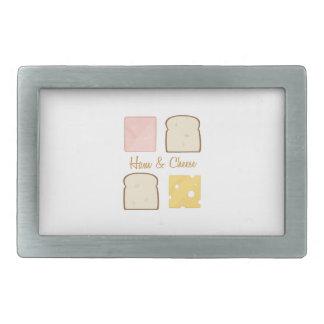 Ham & Cheese Rectangular Belt Buckle