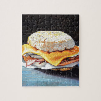 Ham, Egg and Cheese English Muffin Jigsaw Puzzle