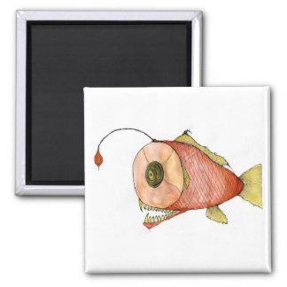 ham fish 2 inch square magnet