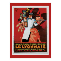 Ham  French Food Vintage Poster