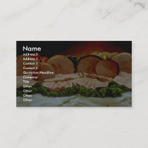 Ham, from the haunch of a pig or boar business card