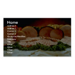 Ham, from the haunch of a pig or boar business card template
