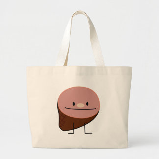 Ham holiday protein honey baked smoked pork large tote bag