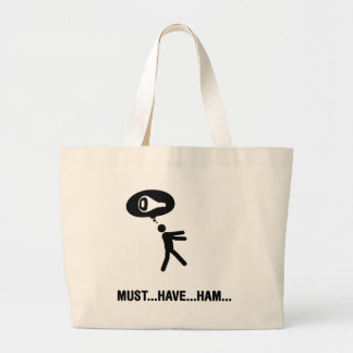 Ham Lover Large Tote Bag