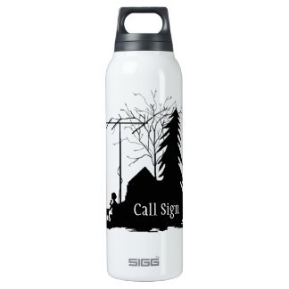 Ham Operator Silhouette Field Day 16 Oz Insulated SIGG Thermos Water Bottle