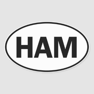 HAM Oval Identity Sign Oval Stickers