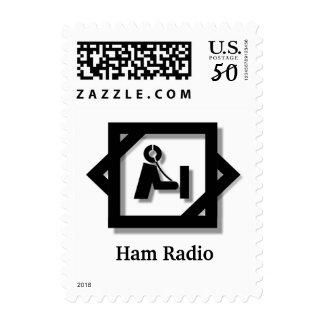 Ham Radio 3-D Logo Stamp   Customize It!