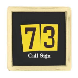 Ham Radio 73 Lapel Pin  Customize Call Sign