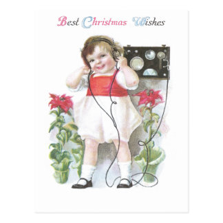 Ham Radio Antique Christmas Postcard