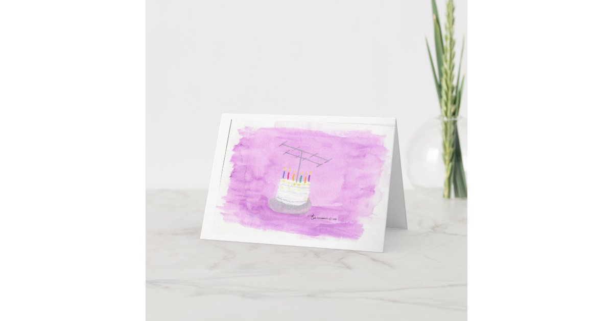 Ham Radio Birthday Cake Card Zazzle