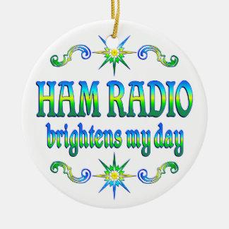 Ham Radio Brightens Ornament