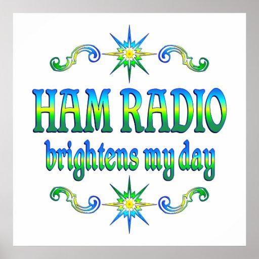 Ham Radio Brightens Poster