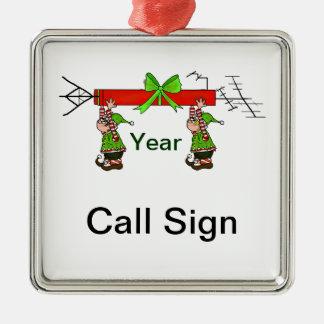 Ham Radio Christmas Ornament with Elves