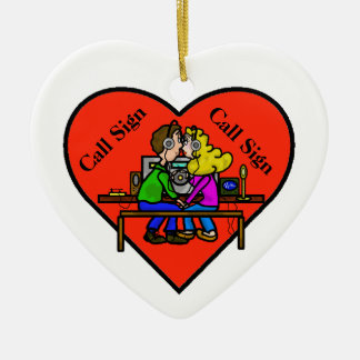 Ham Radio Couple Christmas Ornament Customize It!