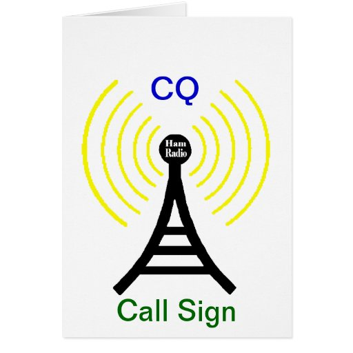 Ham Radio CQ Transmitter Card | Zazzle
