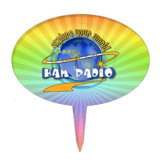 HAM RADIO - EXPLORE YOUR WORLD CAKE TOPPER