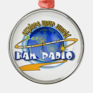 HAM RADIO - EXPLORE YOUR WORLD CHRISTMAS ORNAMENTS