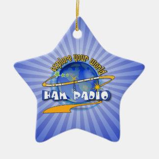 HAM RADIO - EXPLORE YOUR WORLD ORNAMENTS