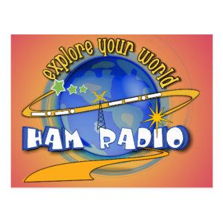 HAM RADIO - EXPLORE YOUR WORLD POSTCARD