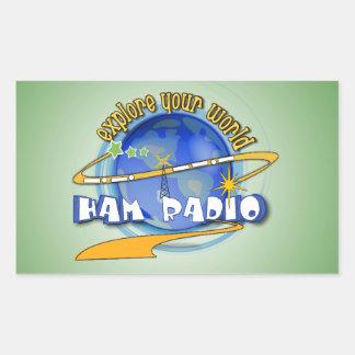 HAM RADIO - EXPLORE YOUR WORLD STICKERS