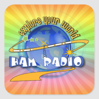 HAM RADIO - EXPLORE YOUR WORLD STICKER