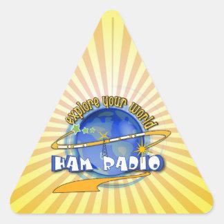 HAM RADIO - EXPLORE YOUR WORLD TRIANGLE STICKER