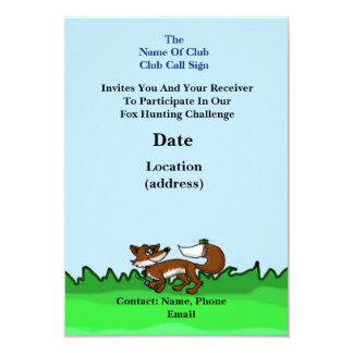 Ham Radio Fox Hunt Invitation (Customize It)