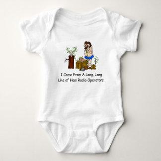 Ham Radio Geneology Baby T-Shirt