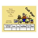 Ham Radio Hamfest Seller QSL Card  Customize It! Postcards