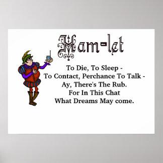 "Ham Radio Hamlet ""To Die To Sleep"" Quote Poster"