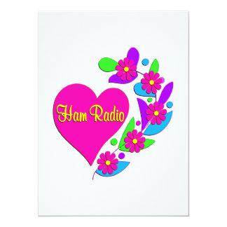 Ham Radio Heart Card