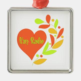 Ham Radio Heart Christmas Tree Ornament