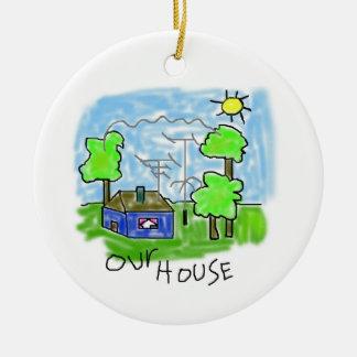 Ham Radio House Christmas Ornament