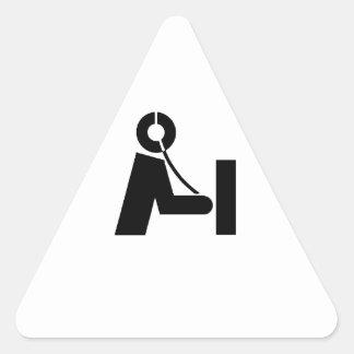 Ham Radio Icon Name Tags Triangle Sticker