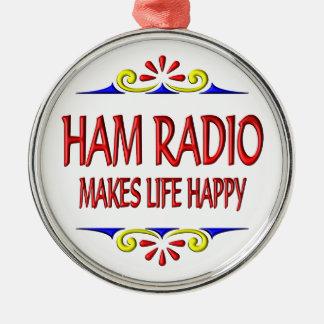 Ham Radio Makes Life Happy Christmas Tree Ornament