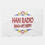 Ham Radio Makes Life Happy Towel
