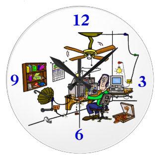 "Ham Radio ""Man Cave"" Wall Clock.  Customize It!"