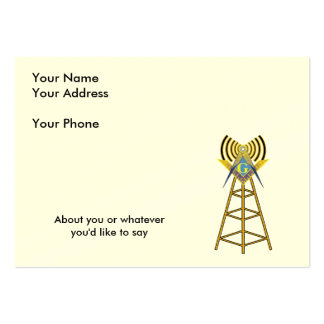 Ham Radio Mason Large Business Card
