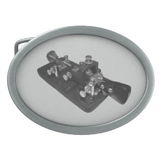 Ham Radio Morse Code Key Belt Buckle