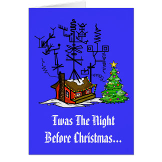 Ham Radio Night Before Xmas Greeting Card
