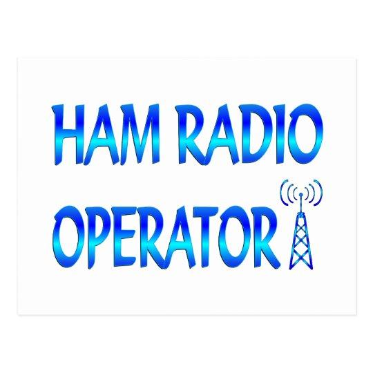 Ham Radio Operator Postcard