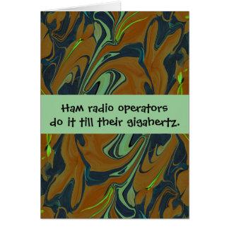 Ham radio operators humor greeting card