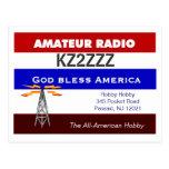 HAM RADIO QSL DESIGN POST CARD