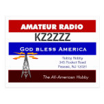 Ham Radio Qsl Design Postcard at Zazzle